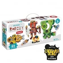 Układam roboty to bardzo kreatywny zestaw puzzli i znakomity pomysł na prezent dla najmłodszych konstruktorów. W prezentowym pudełku znajdziecie 65 puzzli, z których możecie uło...