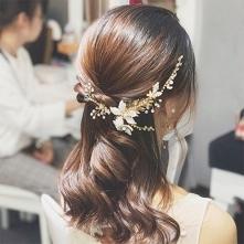 Piękne Złote Ozdoby Do Włosów Ślubne 2020