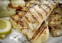 Grillowana ryba masłowa z g...