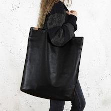 Mega shopper torba czarna n...