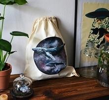 Ręcznie malowany plecak z W...