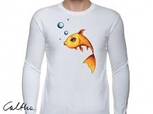 Złota rybka - męska koszulk...