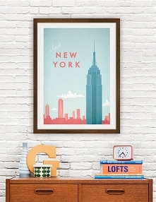 Nowy Jork - vintage plakat ...