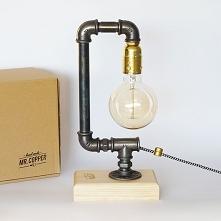 Lampa loftowa HOOK. Steampu...