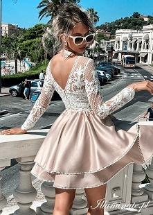 Rozkloszowana sukienka na k...