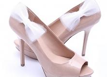 klipsy do butów białe tiulo...
