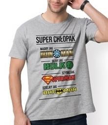 Koszulka Super Chłopak na dzień chłopaka