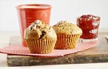 Razowe muffinki z suszonymi...