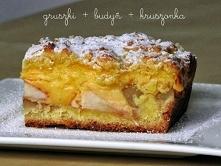 Ciasto z gruszkami, budynie...