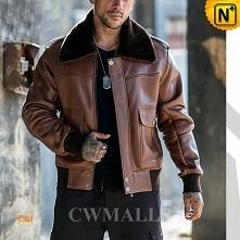 Boston Custom Sheepskin Leather Biker Jacket CW818505 | CWMALLS.COM