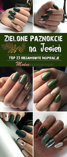 Zielone Paznokcie na Jesień...