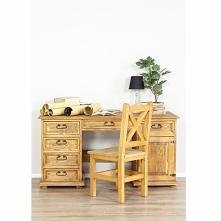 woskowane biurko z litego d...