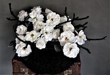 Wieniec na grób biało czarny