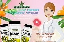 MSM - czyli siarka organiczna, działa szybciej i mocniej niż produkty na bazie skrzypu czy biotyny, pomaga dbać o jędrną skórę ponieważ jest budulcem kolagenu. Na efekty pierwsz...