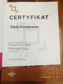 Certyfikat ukończenia szkol...