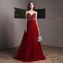 Seksowne Burgund Sukienki N...