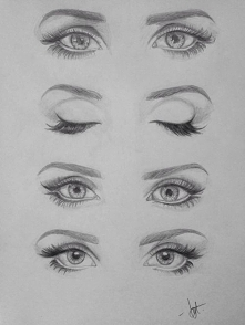 human eyes pencil drawing