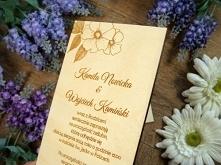 zaproszenia ślubne z drewna...