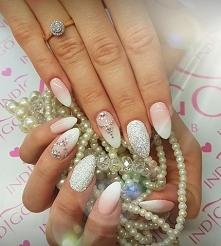 paznokcie ślubne wedding nails