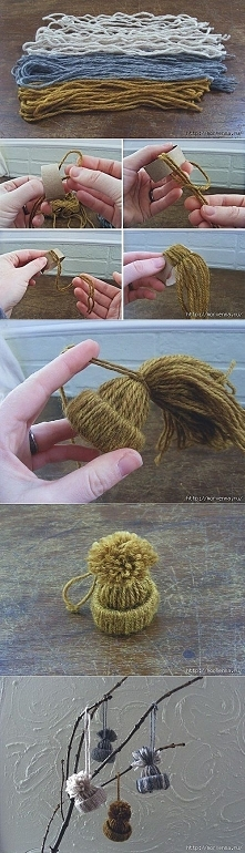 czapeczki na choinke - diy