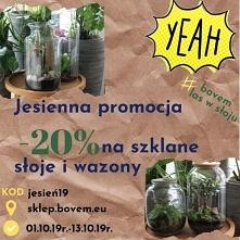 Jesienna promocja -20% na sklep.bovem.eu na szklane słoje i wazony do lasów w...
