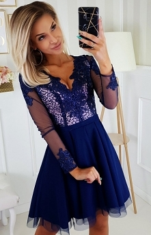 Bicotone Granatowa sukienka...