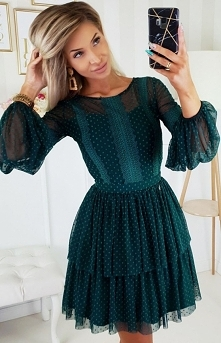 Bicotone Zielona sukienka z...