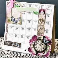 Kalendarz na biurko DIY.