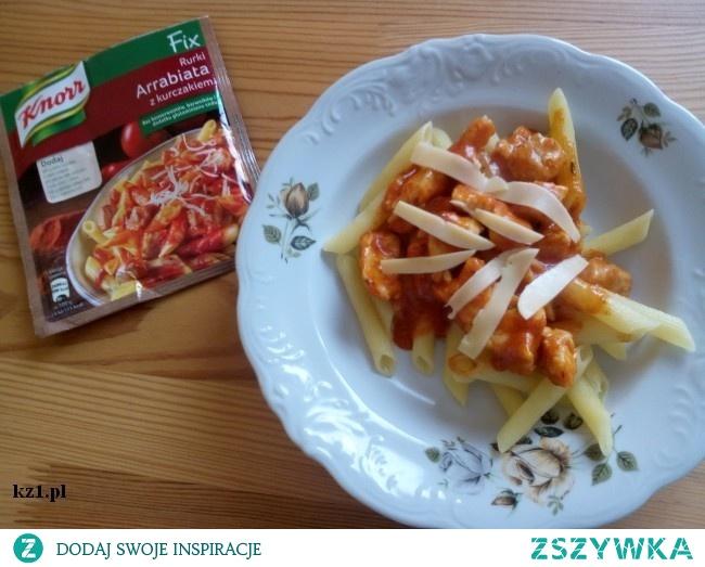 Spaghetti Arrabiata - szybki obiad.