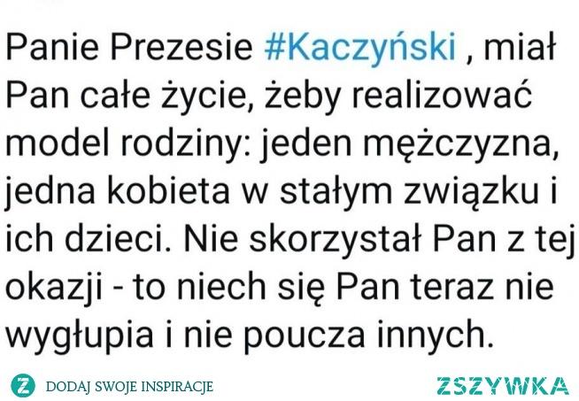 """""""Bronimy tradycyjnego modelu rodziny. Nie da się w każdej wypowiedzi przekazać wszystko. Jesteśmy w pełni za szacunkiem dla kobiet, które samotnie wychowują dzieci... Jak zwykle został źle zrozumiany, w zasadzie to nikt go nie rozumie, może zatem czas na polityczna EMERYTURĘ?! Okazuje się, że aż 33 pary na 100 rozwiodły się w Polsce 2018 roku. Dla porównania w 1981 roku rozwodziło się zaledwie 12 par na sto. Jak wygląda tradycyjny model rodziny widać po nadzorowanej przez wujka rodzinie Marty Kaczyńskiej. I po co się wypowiada?"""