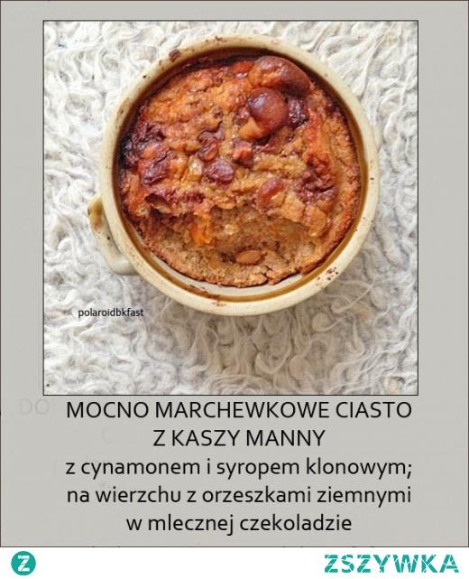 idealne ciasto marchewkowe – z kaszy manny