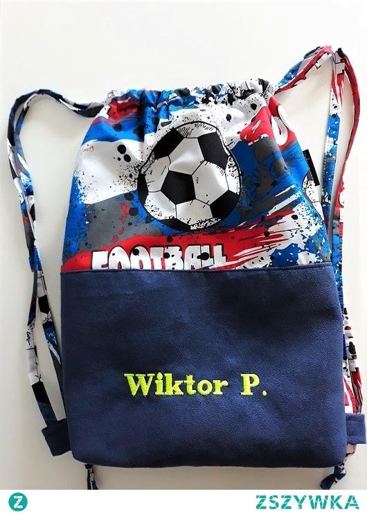 Worek/plecak w piłkę nożną+ IMIĘ