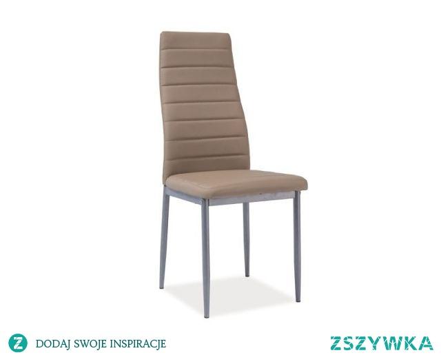 Krzesło H-261 do eleganckich wnętrz i aranżacji, tapicerka z ekoskóry