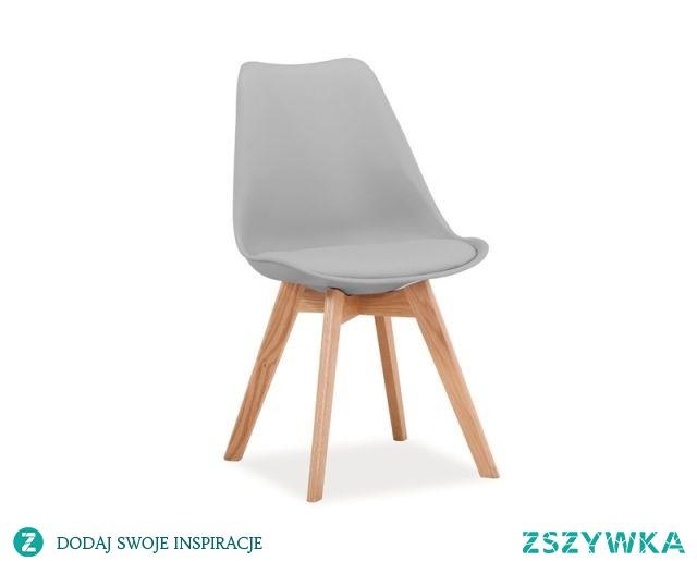 Krzesło KRIS - drewno bukowe i tworzywo PP, poduszka z ekoskóry