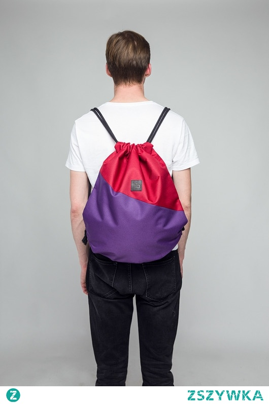 Fioletowy plecak - Lootbag double / purple red