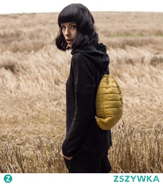 Plecak pikowany /żółty