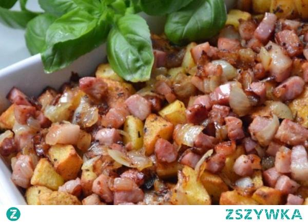 Kurczak zapiekany z ziemniakami i boczkiem