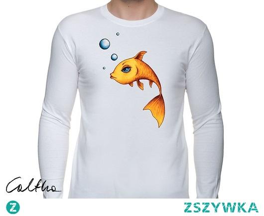 Złota rybka - męska koszulka z długim rękawem