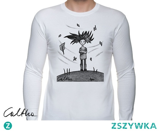 Wietrzna - męska koszulka z długim rękawem
