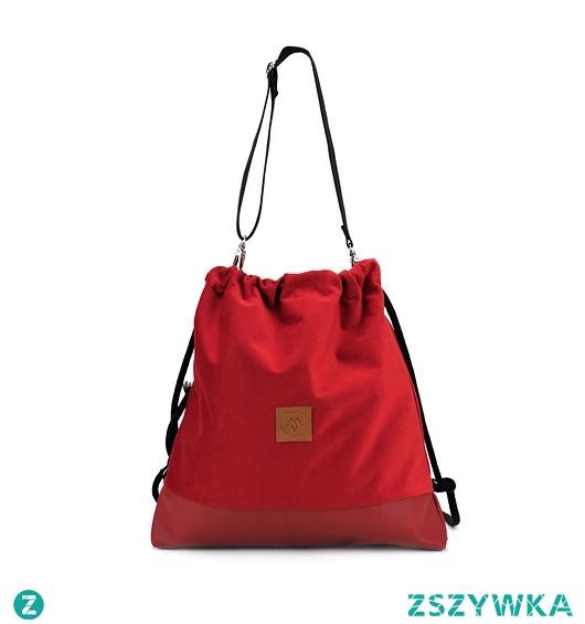 Plecak/torba worek Mili Funny Bag - czerwona
