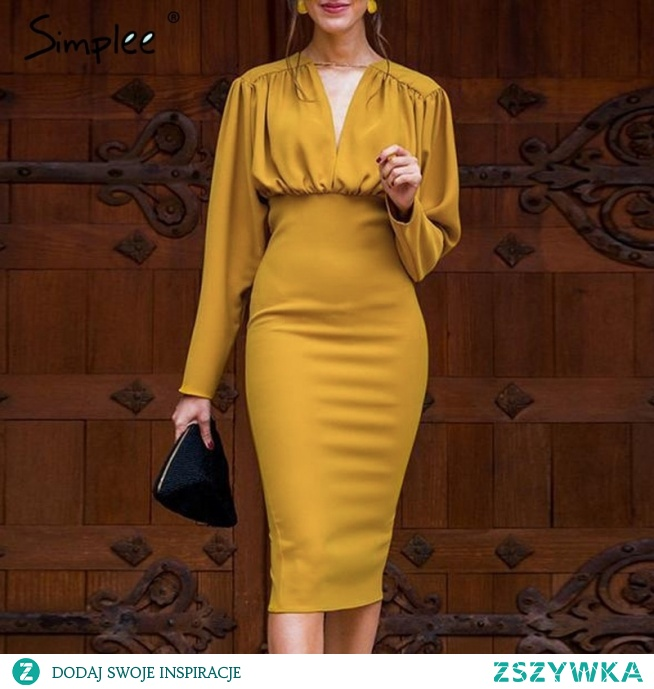 Żółta sukienka