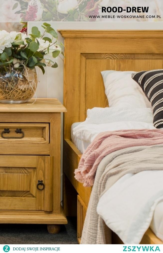 Sypialnia ze stylem !  Meble z litego drewna sosnowego