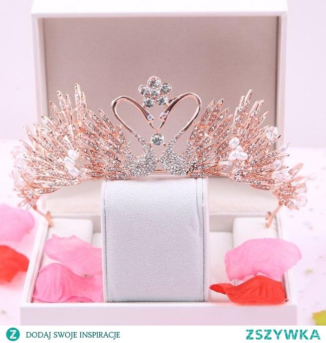 Najpiękniejsze / Ekskluzywne Różowe Złoto Ozdoby Do Włosów Ślubne 2020