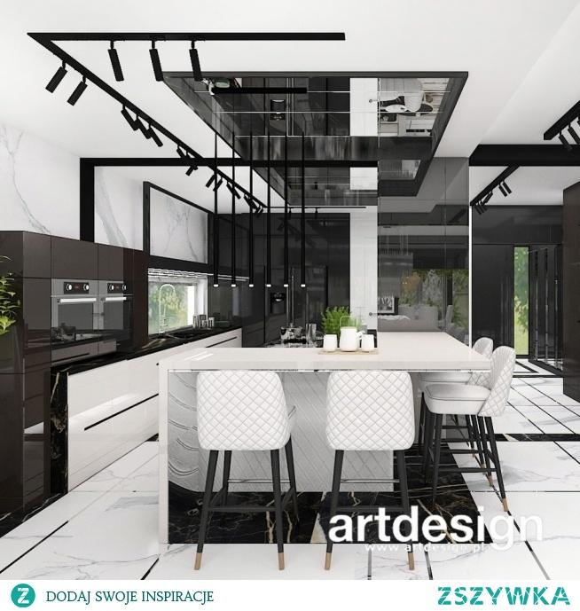 Pomysł na aranżację otwartej kuchni w centrum domu   ANTHOLOGY #20   Wnętrza domu
