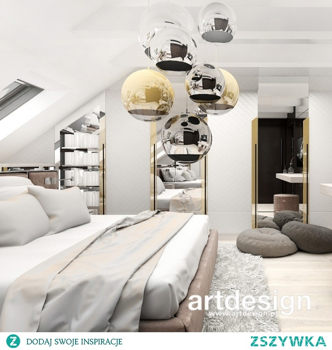 Pomysł na elegancką aranżację sypialni na poddaszu   ANTHOLOGY #20   Wnętrza domu