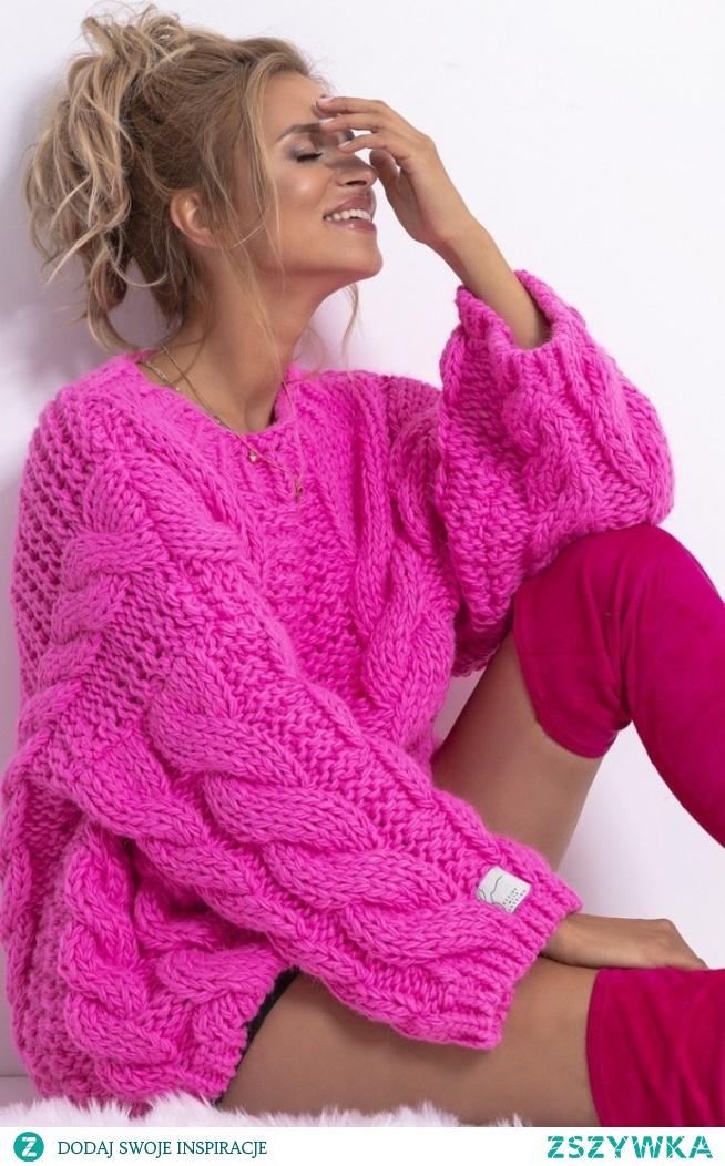 Fobya Ciepły sweter z wełny F780