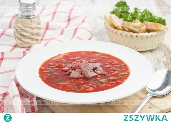Zupa rybna z pomidorami i papryką