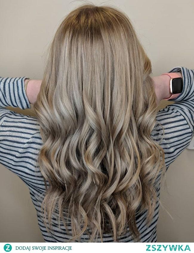 Пепельный русый цвет волос Ash blond hair Popielaty blond kolor włosów farbowanie włosów