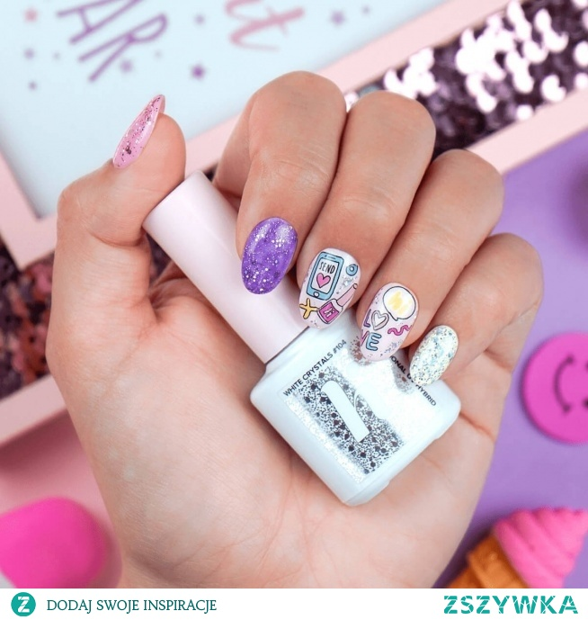 Kolorowa inspiracja paznokciowa :)