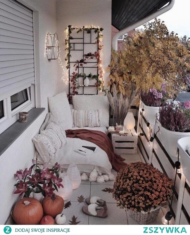 Jesiennie na balkonie :)